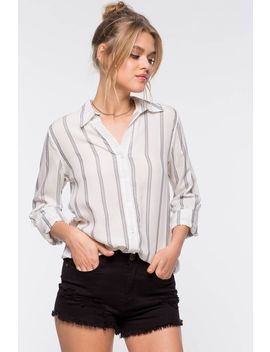 Delia Stripe Collared Shirt by A'gaci