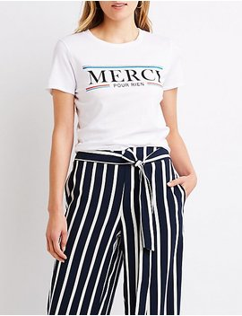 Merci Pour Rien Crop Tee by Charlotte Russe