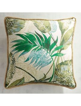 Tacori Leaf Jute Trimmed Pillow by Pier1 Imports