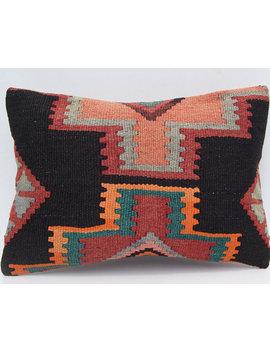 "20""X14"" Geometric Cushion Persian Kilim Pillow Cover Handmade Pillow Case Rectangle Kelim Rug by Etsy"