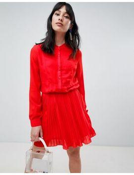 Unique 21 Button Pleat Skirt Dress by Unique 21