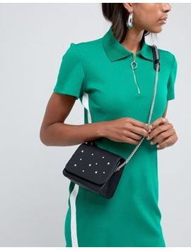 Pull&Bear Star Studded Crossbody Bag In Black by Pull&Bear