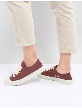 Pull&Bear Baseball Sneaker In Red (Join Life) by Pull&Bear