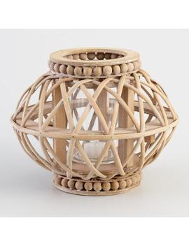 Natural Wood Beaded Lantern by World Market