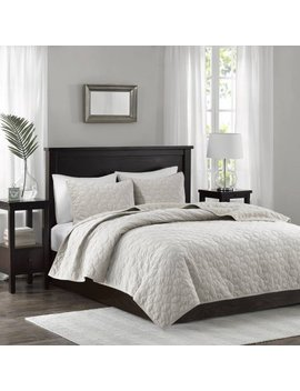 Home Essence Mercer Velvet 3 Piece Coverlet Set by Home Essence