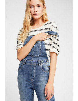 Slim Ankle Denim Overalls by Free People
