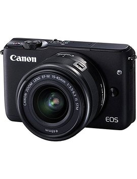Canon Eos M10 Mirrorless Digital Camera With 15 45mm Lens (Black)   International Version (No Warranty) by Canon