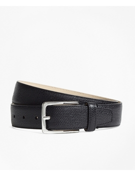 1818 Textured Leather Belt by Brooks Brothers