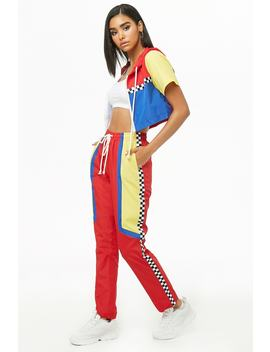 Colorblock Cropped Windbreaker & Track Pants Set by Forever 21