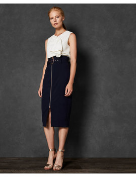 Top Stitch Detail Pencil Skirt by Ted Baker