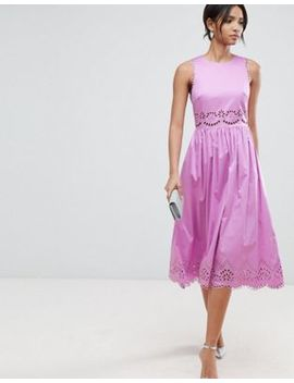 Ted Baker Violet Embroidered Midi Dress by Ted Baker