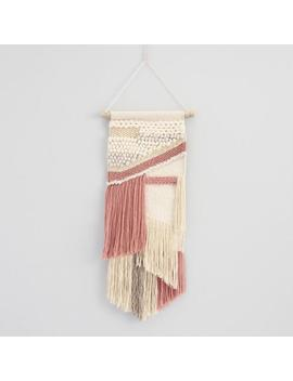 Blush And White Fringe Woven Wall Hanging by World Market