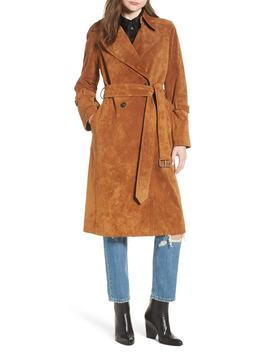 Genuine Suede Trench Coat by Avec Les Filles