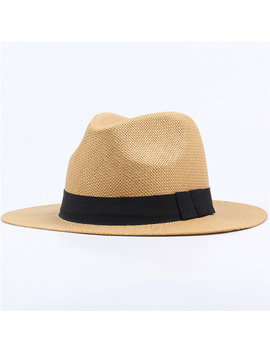 Men Women Summer Casual Vacation Panama Straw Hat Beach Sun Hat by Newchic