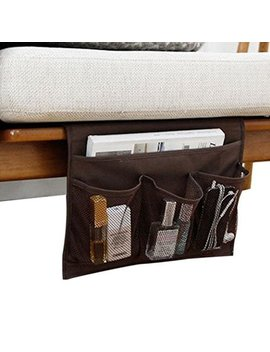 Iloveshop Bedside Storage Organizer/Beside Caddy/Table Cabinet Storage Organizer For Tablet Magazine Phone Remotes   All Within Arms Reach (Coffee) by Iloveshop