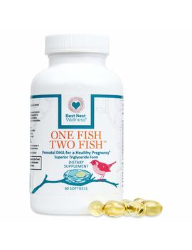 One Fish Two Fish Prenatal Dha, Triglyceride Omega 3 Fish Oil Supplement, Easy To Swallow, Lemon Flavored, Best Nest Wellness, 60 Count by Best Nest Wellness