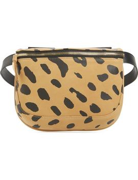 Jaguar Print Leather Fanny Pack by Clare V.