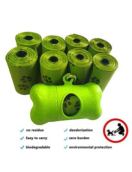 Compostable Biodegradable Dog Poop Bag,Ourhome520 Refill Rolls, Leak Proof Pet Waste Bags, Earth Friendly, Easy Tear Off, Epi Technology, Environment Friendly Durable, Cat Litter Bag by Ourhome520