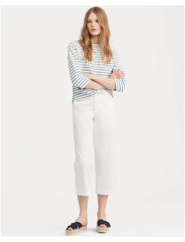 Cropped Twill Wide Leg Pant by Ralph Lauren