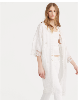 Eyelet Lace Linen Duster by Ralph Lauren