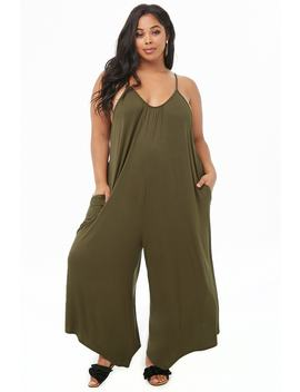 Plus Size Handkerchief Hem Jumpsuit by Forever 21