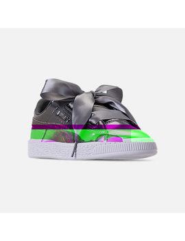 Girls' Preschool Puma Basket Heart Luna Lux Casual Shoes by Puma