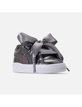 Girls' Toddler Puma Basket Heart Luna Lux Casual Shoes by Puma