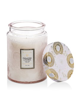 Japonica Panjore Lychee Large Glass Candle by Voluspa