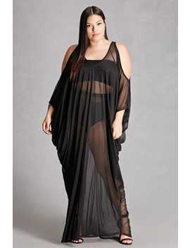 Plus Size Sheer Mesh Maxi Dress by Forever 21