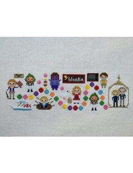 Wonka Land Cross Stitch Pattern  Willy Wonka Inspired Parody Fan Art: Pdf Instant Download by Etsy