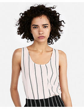 Striped Scoop Neck Tank by Express