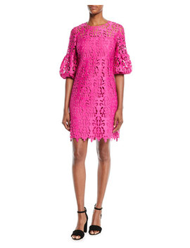 Vina Lace Dress W/ Bell Sleeves by Shoshanna