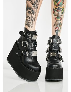 Matte Low Trinity Boots by Demonia
