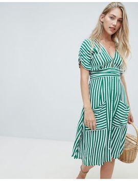 Faithfull Milan Midi Dress In Stripe by Faithfull