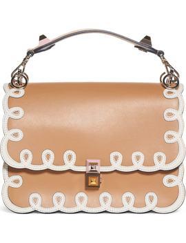 Kan I Scalloped Leather Shoulder Bag by Fendi