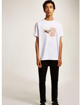 White 'romance' T Shirt by Topman