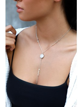 Love And Honor Silver And White Drop Necklace by Lulu's