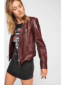Victory Leather Moto Jacket by Free People
