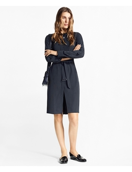 Pinstripe Trench Dress by Brooks Brothers