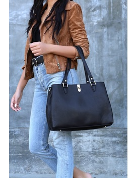 Back On Top Black Handbag by Lulu's