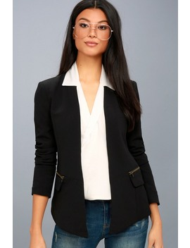 Avant Garde Black Cropped Blazer by Lulu's