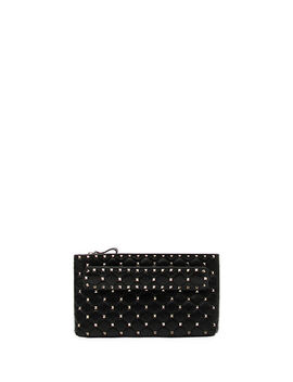 Rockstud Spike Quilted Leather Clutch Bag by Valentino Garavani