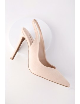 Allie Nude Slingback Pumps by Lulu's