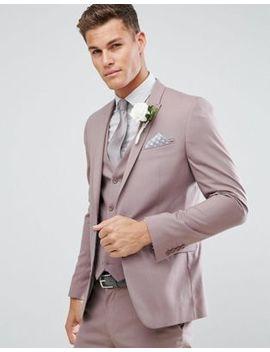 Asos Wedding Skinny Suit Jacket In Mink by Asos