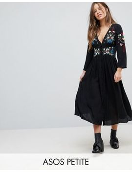 asos-petite-embroidered-maxi-dress by asos-petite