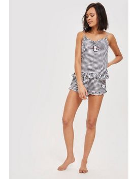 Marie Aristocat Gingham Pyjama Set by Topshop