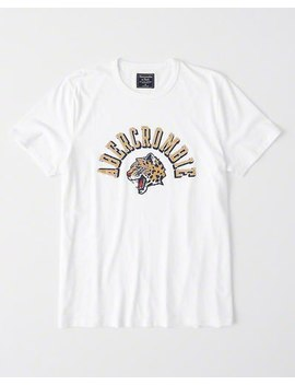 Varsity Graphic Logo Tee by Abercrombie & Fitch