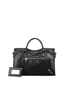 Giant 12 Golden City Bag, Black by Neiman Marcus