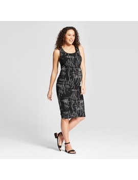 Maternity Shirred Tank Dress   Isabel Maternity By Ingrid & Isabel™ Black Print by Isabel Maternity By Ingrid & Isabel