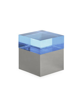 Blue Small Monaco Square Box by Jonathan Adler